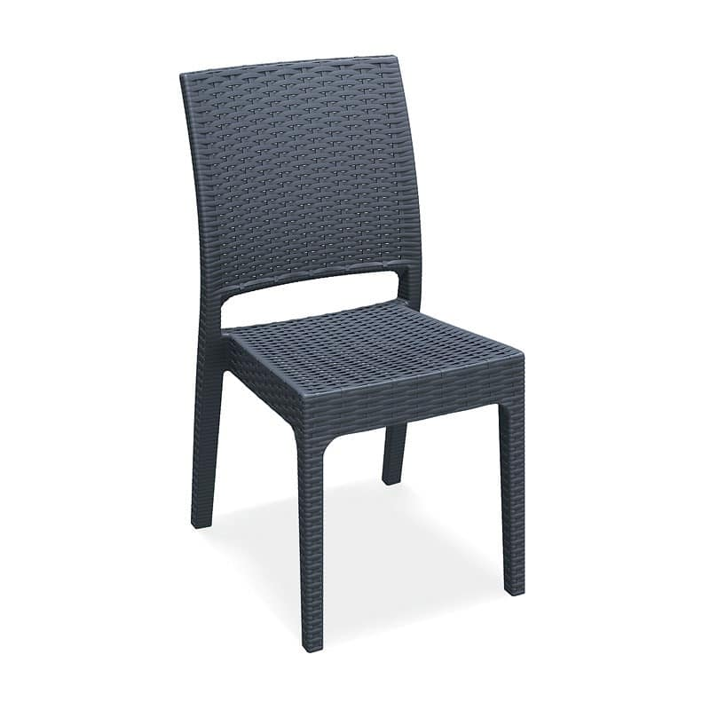 Lipari - S, Robust, modern chair, stackable, for outdoor bar