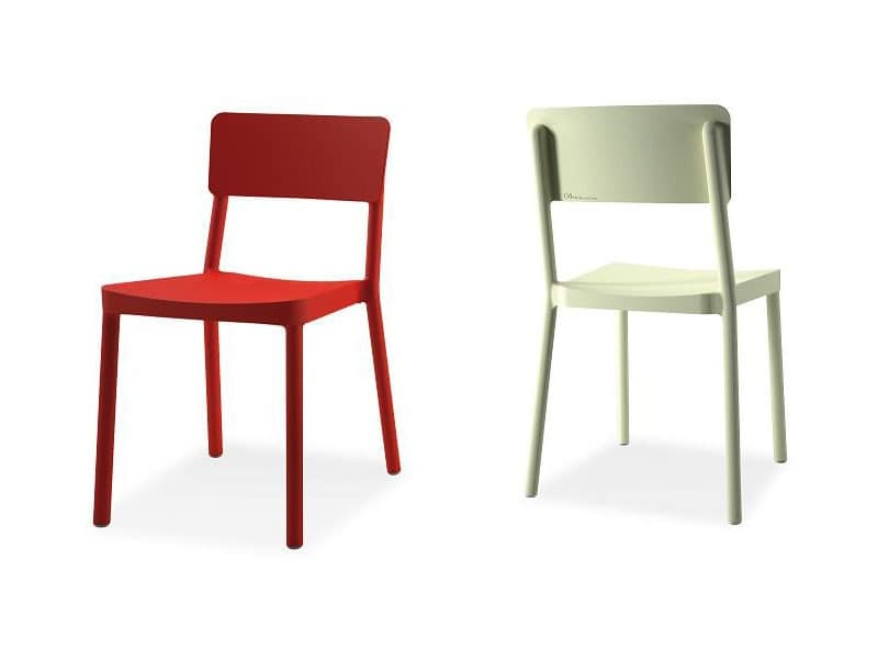 Lisboa chair, Plastic stacking chair for bars and restaurants