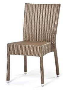 Lotus chair, Stackable chair, hand woven, aluminum base