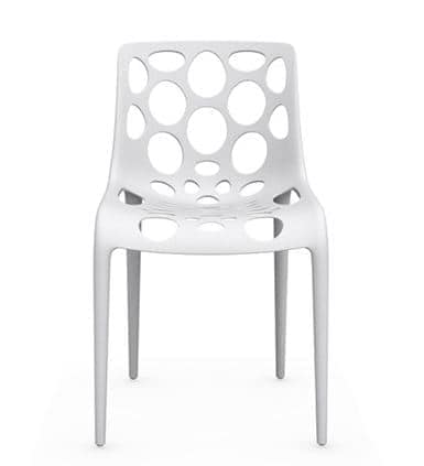 Lotus, Chair in polypropylene with shell with circular holes