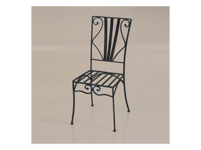 Marco, Outdoor chair made of wrought iron