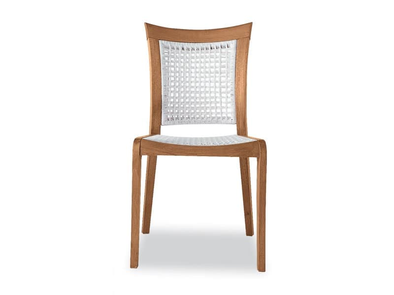 Mirage side chair - polypropylene, Chair in wood and polypropylene, for outside
