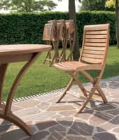 Mirage folding chair, Wooden folding chair, for outdoor use