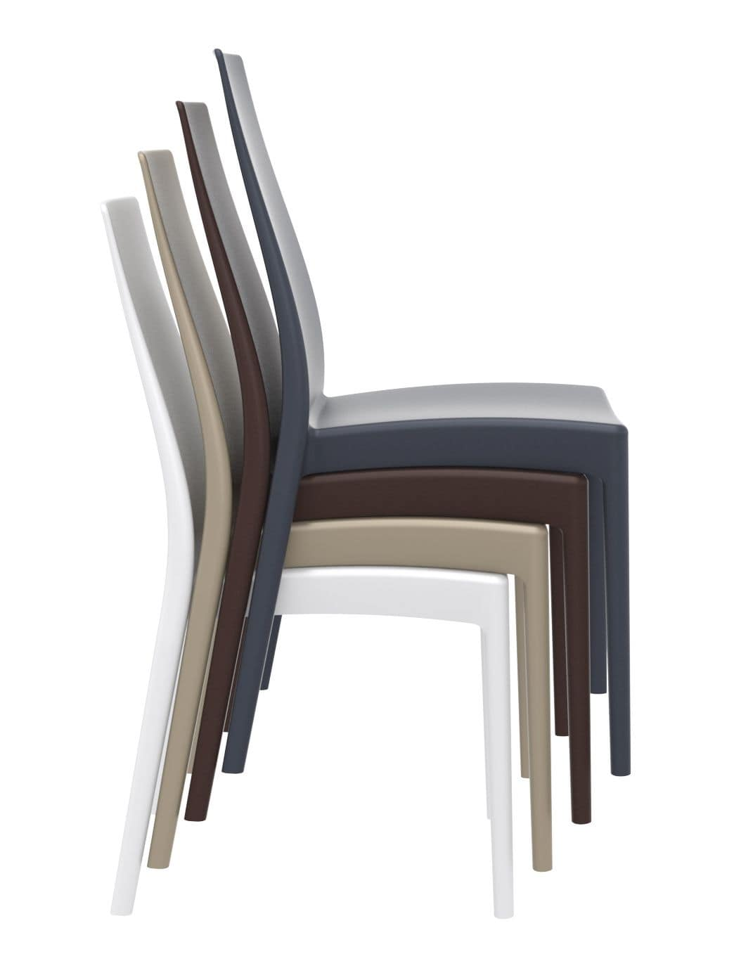 Miriam, Polypropylene chair, UV resistant, available in different colours