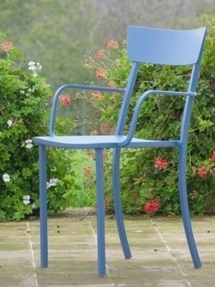 Mogan, Chair with armrests for garden