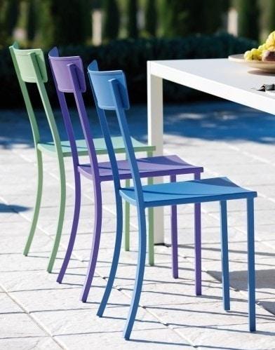 Mogan, Garden chair in galvanized steel