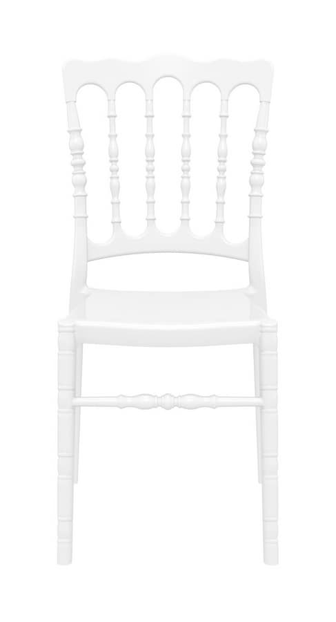 Napoleone, Transparent chair made of polycarbonate, stackable
