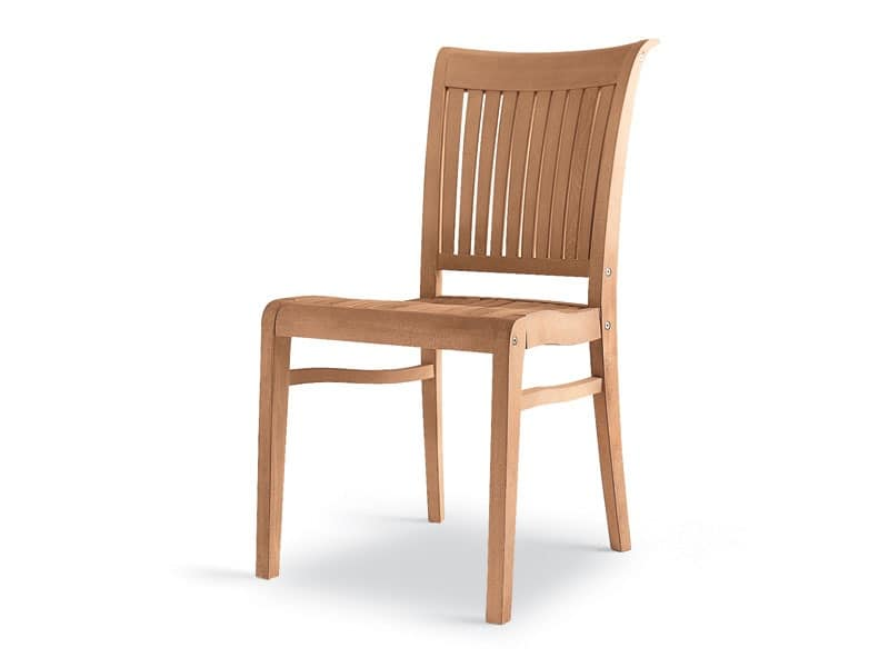 Newport side chair, Wooden chair, robust and elegant, for outside