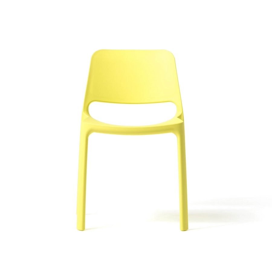 Nuke, Stackable polypropylene chair, also for outdoor use