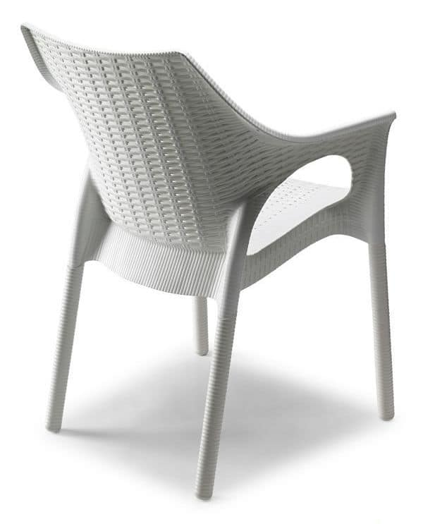 Olimpia Trend, Outdoor armchair with woven pattern surface