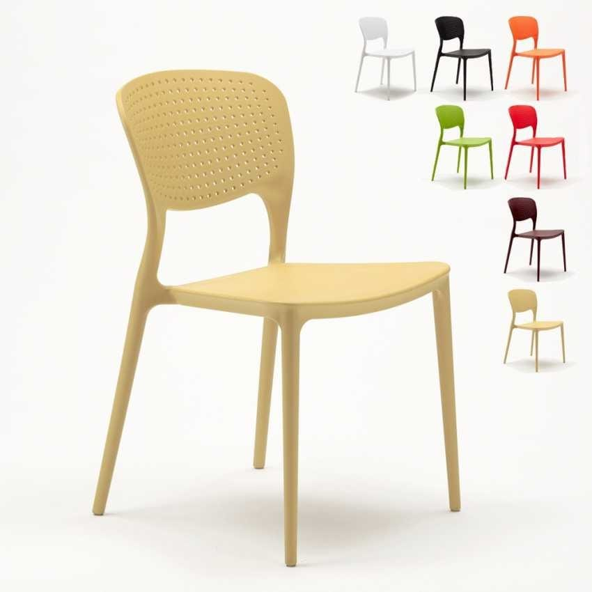 Outdoor polypropylene stacking bar kitchen chairs inside GARDEN GIULIETTA - SG689PP, Stackable and durable outdoor chair