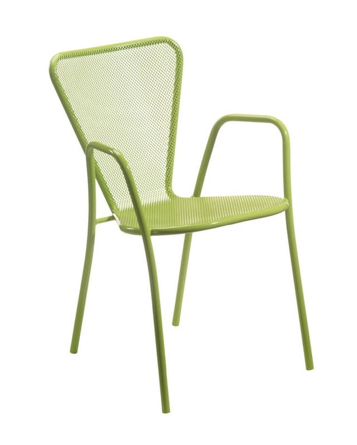PL 423, Stackable chair in painted metal, in various colors