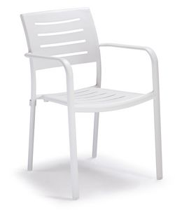 PL 450, Stackable aluminum chair for gardens