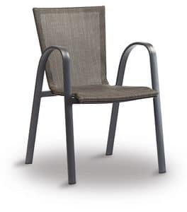 PL 467, Chair in aluminum and textilene, for bars and restaurants