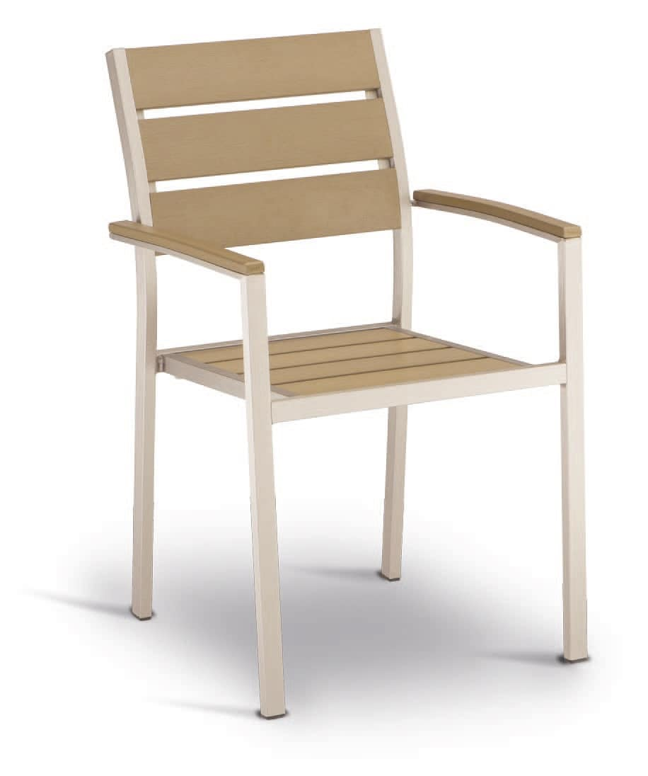PL 471, Chair in aluminum and techno-wood, steel effect