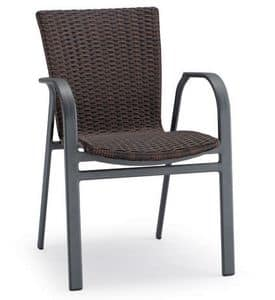 PL 733, Aluminum chair, twisted shell, for outdoors