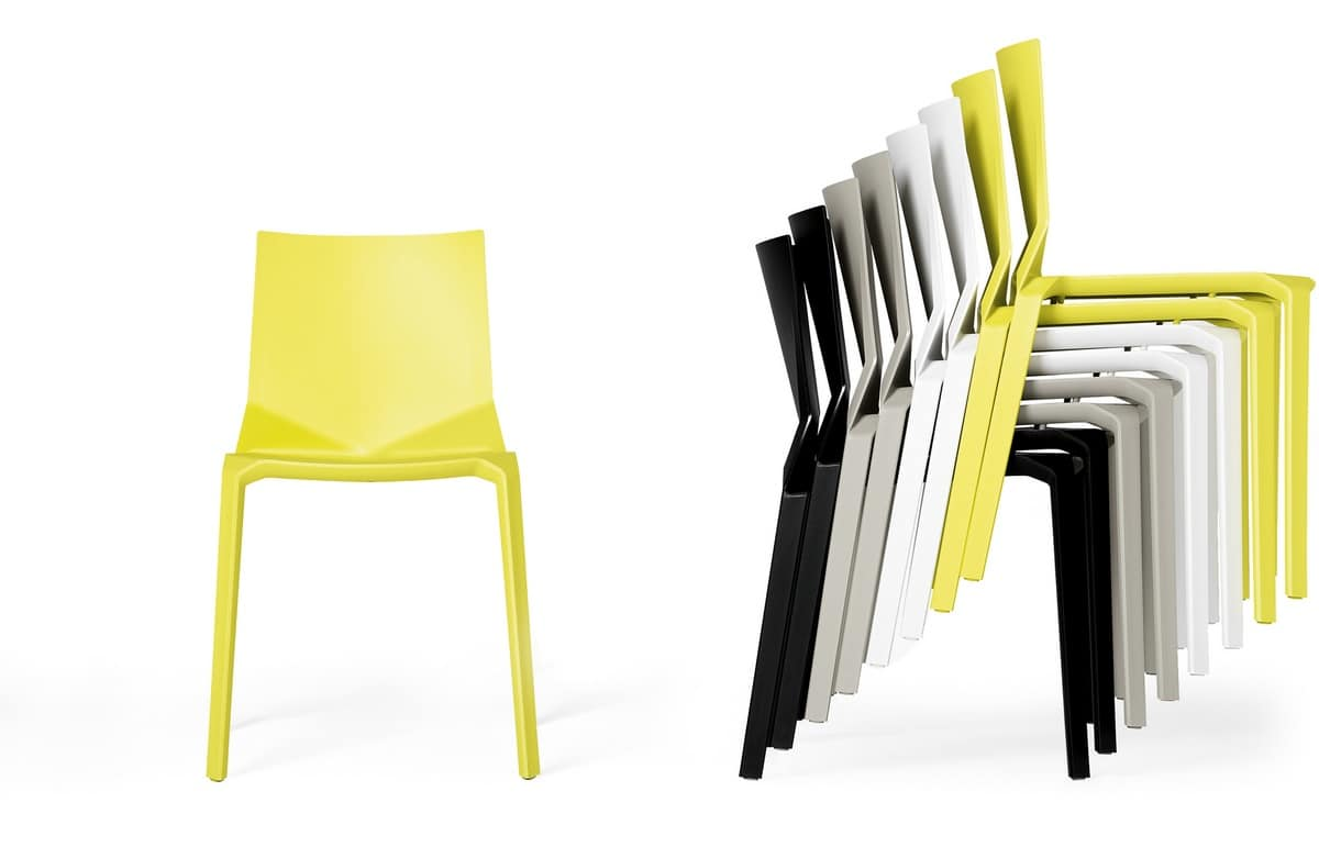 Plana, Polypropylene chair, durable, economical and robust
