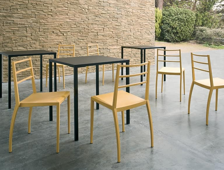 Prisma, Stackable chair in technopolymer, also for outdoor use
