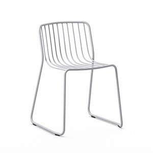 Randa nude, Stackable chair in painted steel