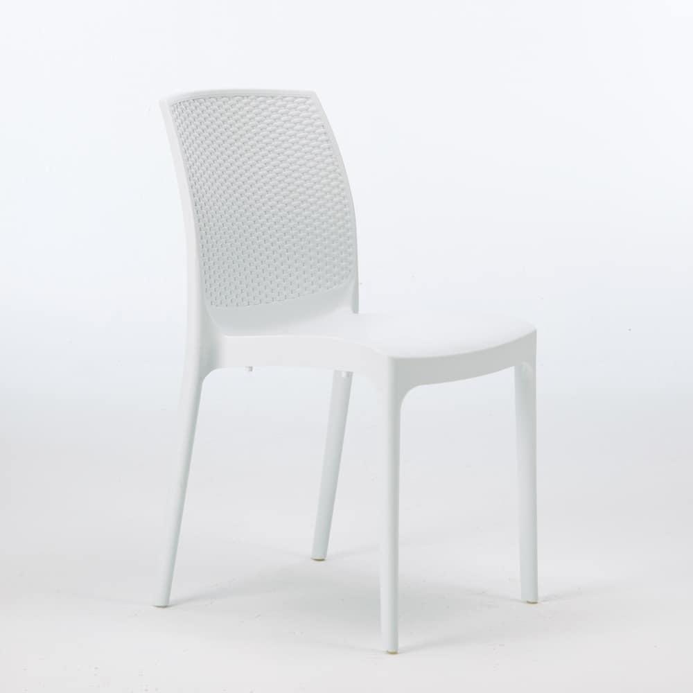 rattan outdoor garden stackable chair – S6308, Stackable rattan chair, practical to store