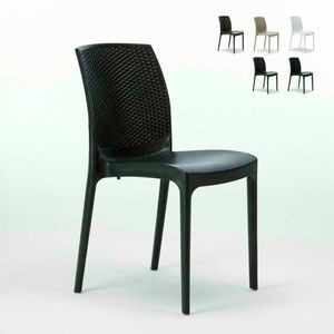 rattan outdoor garden stackable chair � S6308, Stackable rattan chair, practical to store