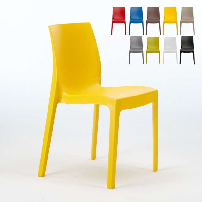 Stackable kitchen bar chair Rome – S6217, Plastic chair, economic, for indoor and outdoor