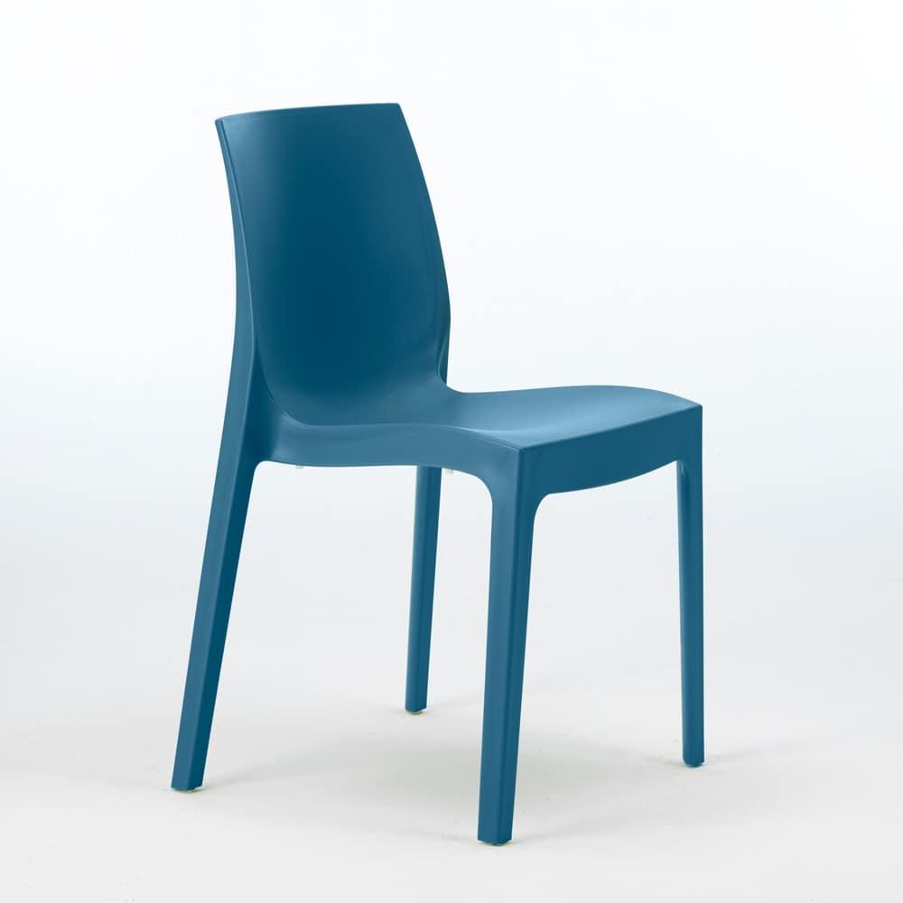 Plastic chair, economic, for indoor and outdoor  IDFdesign