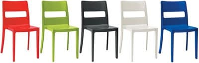 Sai, Chair made of reinforced technopolymer, for kitchens and outdoors