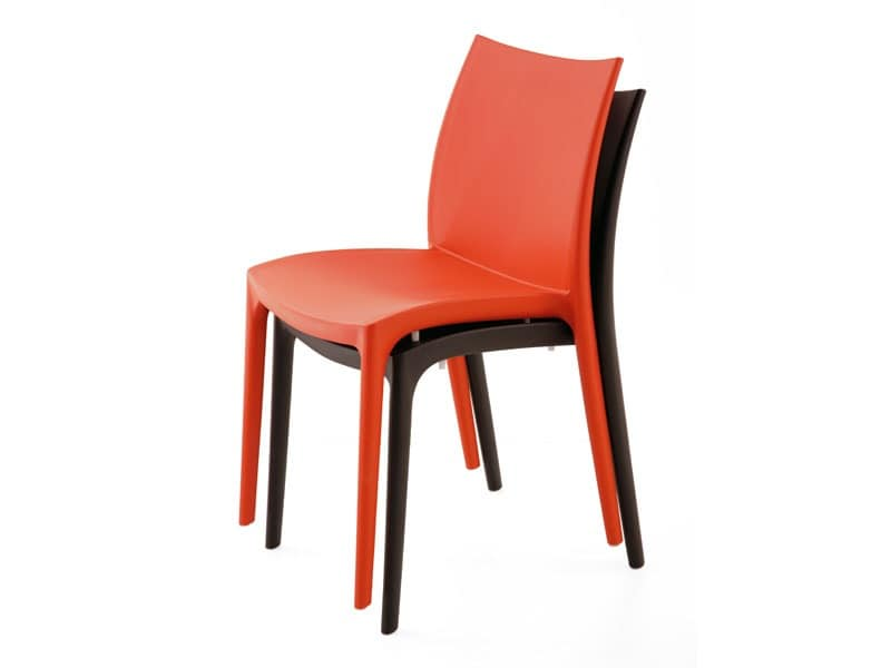 SE 161, All-plastic chair in different colors, for external
