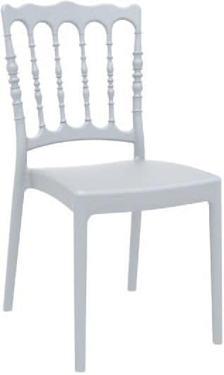SE 165, Chair made of polypropylene with matte finish, for outdoor