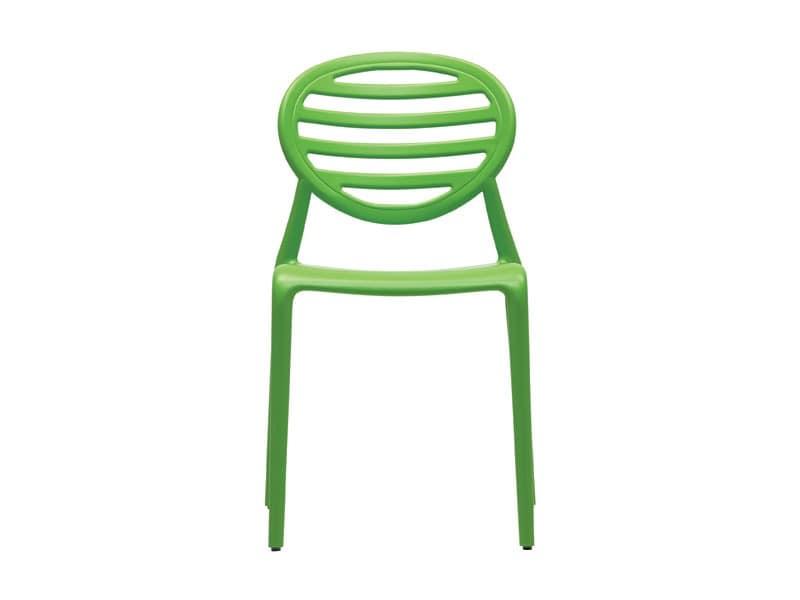 SE 2317, Stackable polypropylene chair, for garden and patio