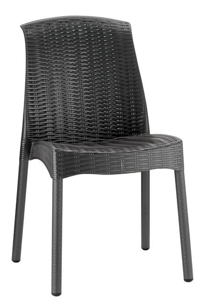 SE 2635, Plastic chair, with fake interlacing, for outdoor