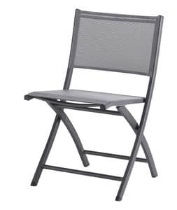 SE 468, Folding chair in aluminum and textilene, for outdoor