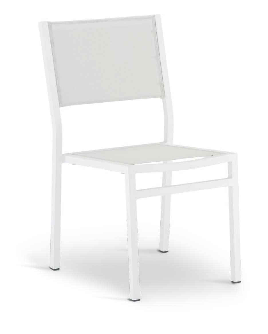 SE 469, Stackable chair in aluminum, coated in Textilene