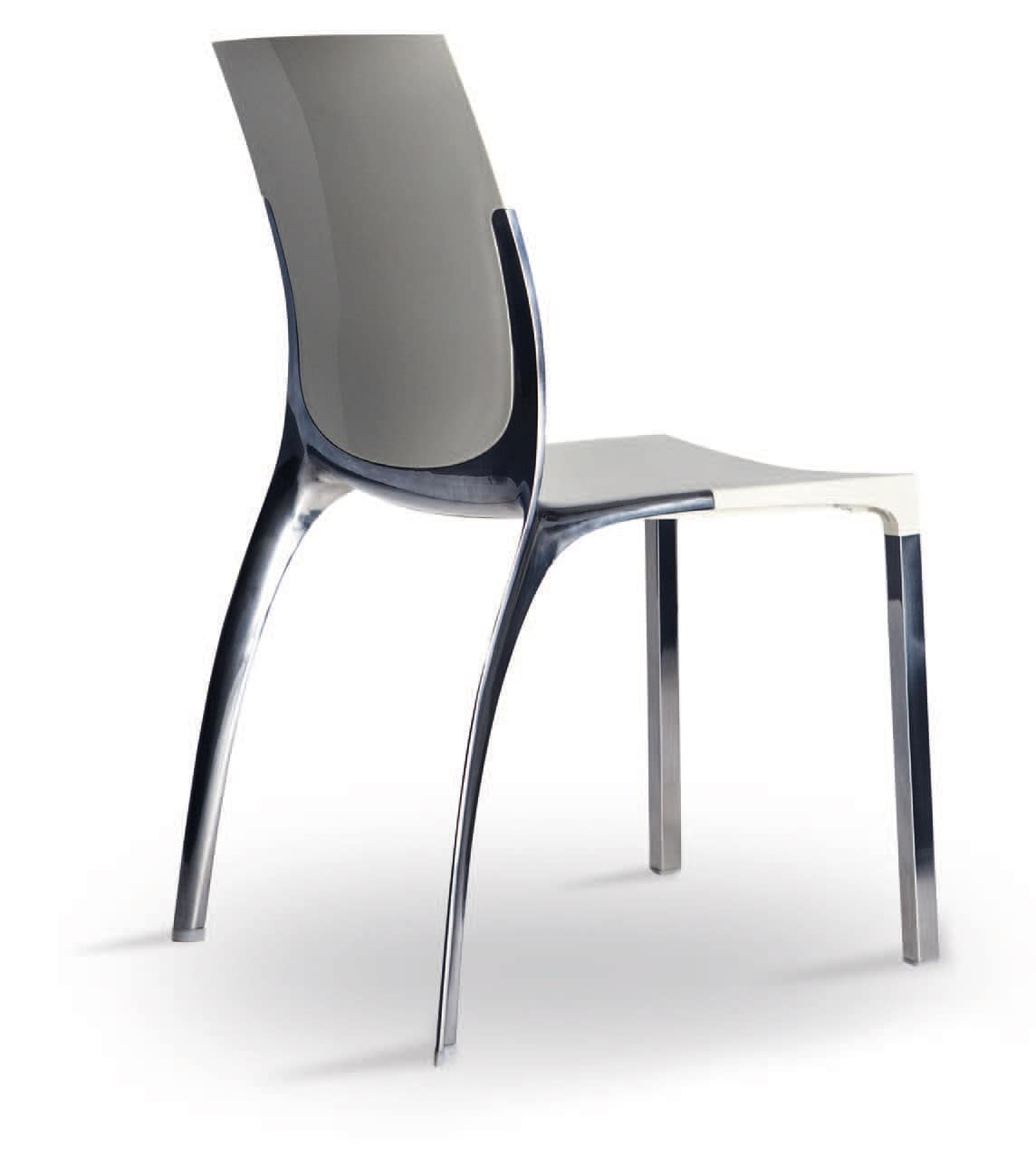 SE 800 / EST, Chair in aluminum and polycarbonate, in elegant style