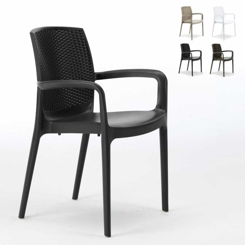 Sedia Per Esterni Rattan.Chair Of High Quality Resin Stackable For Outside Idfdesign
