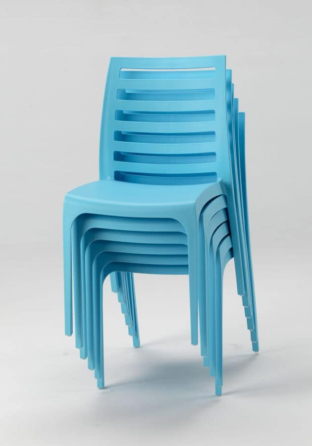 External Resin Chair LINE U2013 SL100RES25PZ, Stackable Chair Made Of Plastic  For Outdoor Use
