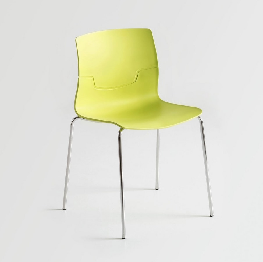 Slot Fill NA, Chair with chromed metal legs, shell in polymer