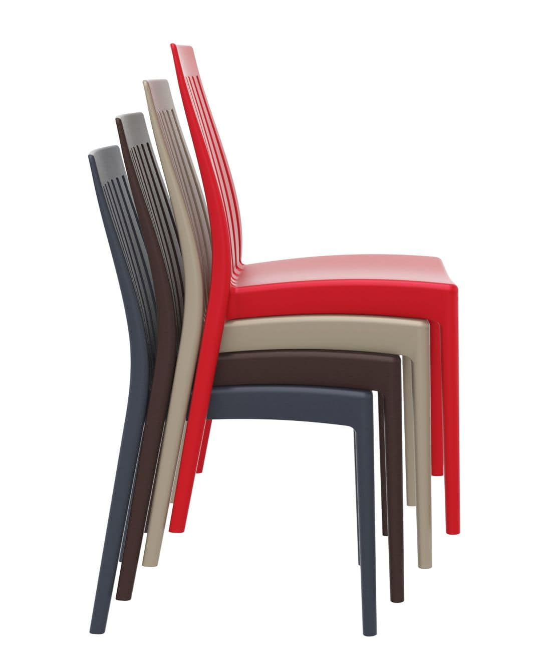 Sonia, Polypropylene chair for indoor and outdoor, stackable