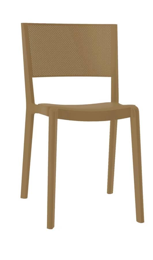 Stan - S, Stacking chair for outdoors, plastic chair for gardens