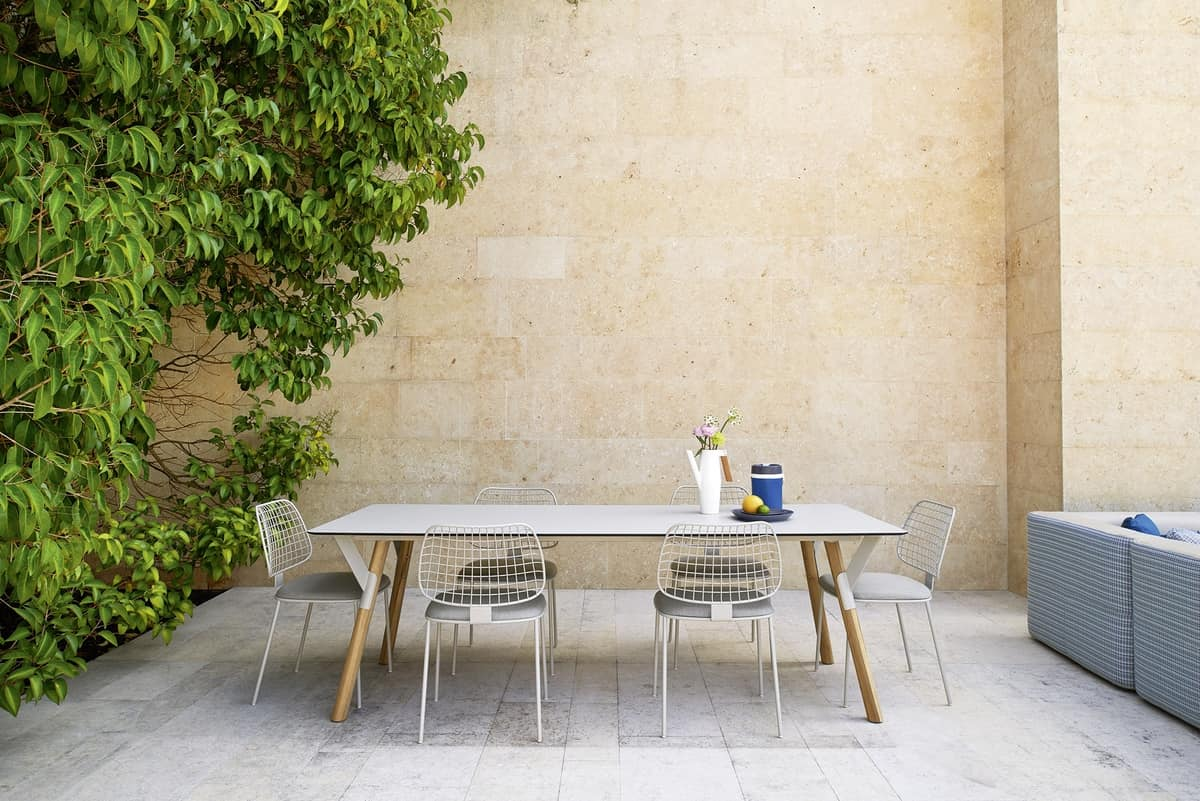 Summer set chair, Steel rod chair, padded seat, for bars and terraces