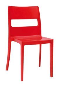 Tai, Stackable plastic chair, for outdoor use
