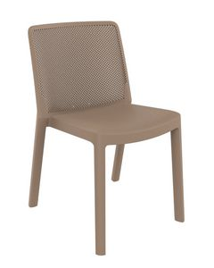 Traforata - S, Polypropylene chair with perforated backrest, for outdoor use