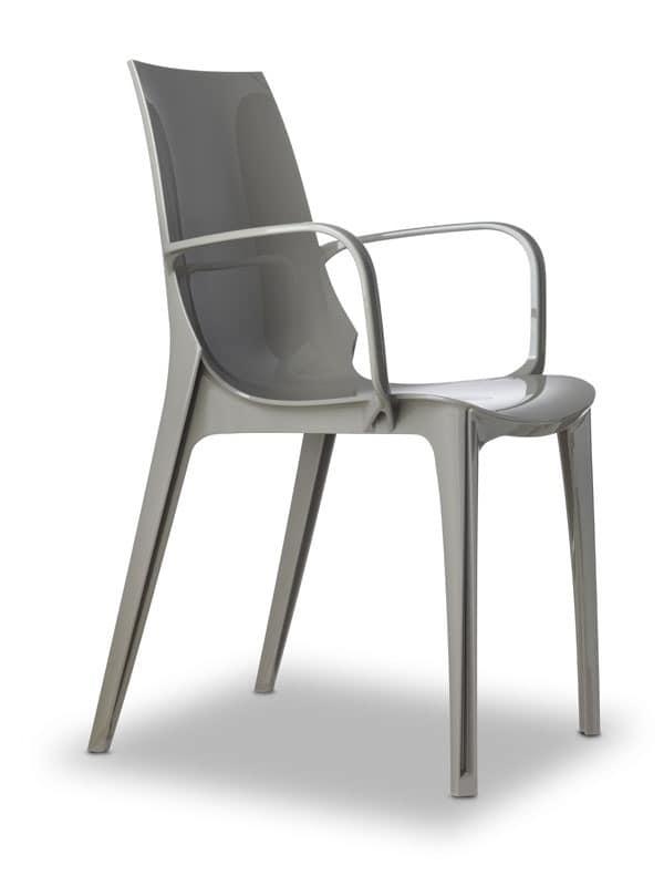 Vanity, Polycarbonate design chair, several colours