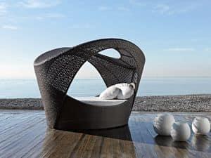 Altea alcova, Alcove sofa, woven, for patio and relax areas