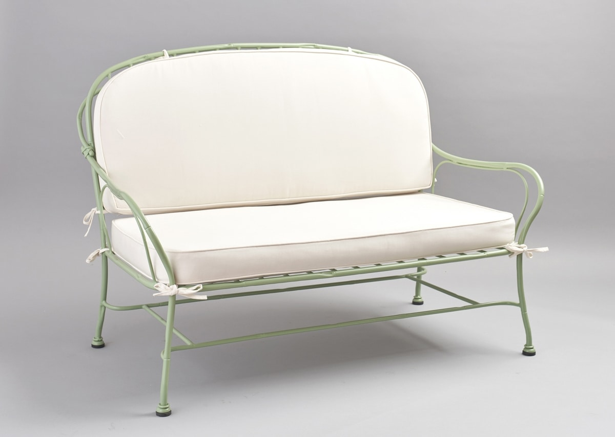 BAMBOO GF4012SO, 2-seater sofa in galvanized iron for outdoor use