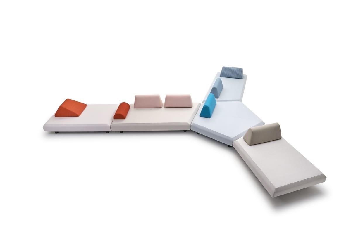 Bento modular sofa, Modular sofa with modern design, for outdoor and indoor
