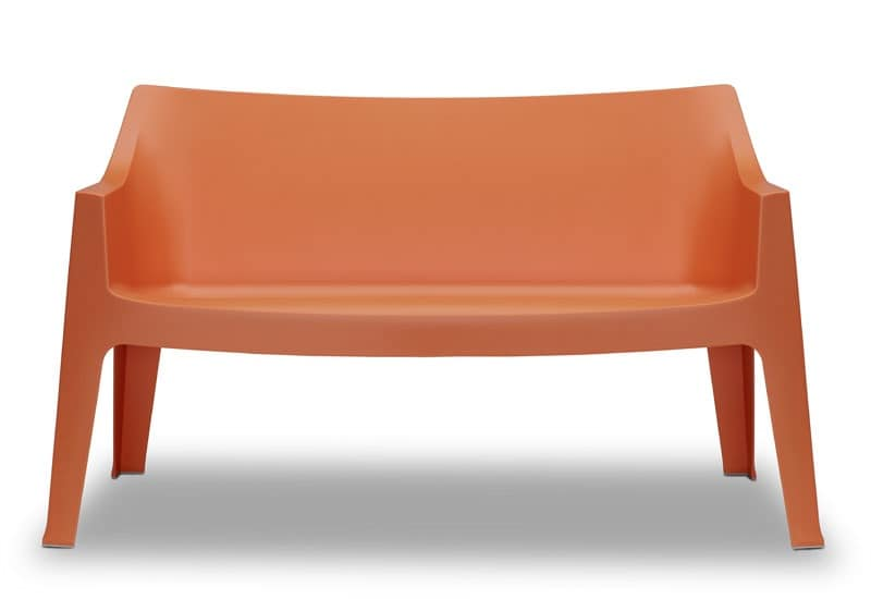 Coccolona sofa, Stable and comfortable sofa in propylene, for outdoor use