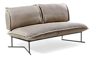 Colorado sofa 2p, Sofa with base in treated metal, for outdoor use