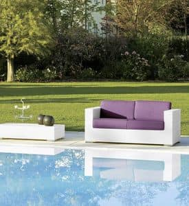 Cora sofa 2p, 2 seater sofa for gardens and beach bars